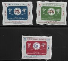 Kuwait Scott #286-88, Singles 1965 Complete Set FVF MH