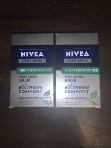 (2)3.3oz NIVEA FOR MEN EXTREME COMFORT POST SHAVE BALM MICRO TECH *DISCONTINUED*