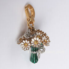Juicy Couture 2009 Daisy Flowers Bouquet charm, RETIRED HTF rare