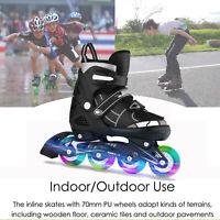 Adjustable Inline Skates Roller Blades Unisex Adult/Kid Breathable Flash Wheel\