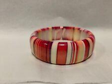 Next  Pale pink Stripes Chunky Funky Stylish Bangle