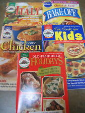 5 COOKBOOKS 1998 PILLSBURY Bake Off   Taste of Italy CHICKEN  Holidays  Kids