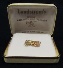 Landstrom's Hand Crafted Black Hills 11K Gold 3 Tone Grape Leaves Pin, SOA, Box