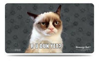 60cm Grumpy Cat Meme Rubber Playmat TCG Cards MTG/Pokemon/Yugioh/Sports Play Mat
