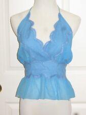 SAMPLE SALE Chloe Net-a-Porter Boho Silk Lace Halter Top Shirt Blouse T40 6 M