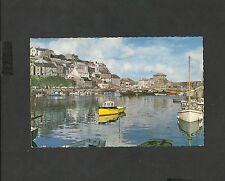 Vintage Colour Postcard The Harbour Mevagissey Cornwall posted 1964