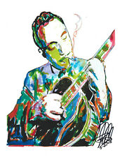 Django Reinhardt Guitar Jazz Bebop Romani Music Print Poster Wall Art 8.5x11