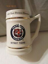 Vintage 1984 East Division Champions Detroit Tigers Stein W/Players Names