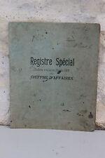 Ancien registre Spécial - Chiffre d'affaire - Saint Priest - 1933 - Charon