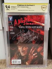 A Nightmare On Elm Street 1 CBCS 9.4 Signed by Robert Englund DC Like CGC 🔥🔥