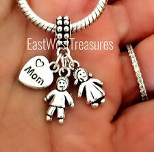 Día de la Madre Mom Hijo Hija Niño Niña Charm Pulsera Collar Regalo Para Mom Mum