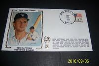 1985 New York Yankees DON MATTINGLY Ties Lou GEHRIG for Doubles SILK First Cover