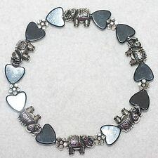 Magnetic Hematite Hearts Elephant Flower Stylish Bracelet Jewellery Xmas Gift