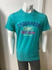 Dsquared Mens Green Camp Bros Tee £210 my price £90 size XL