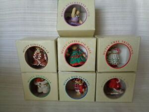 LOT OF 7 MUFFY VANDERBEAR COLLECTION CHRISTMAS THEME ORNAMENTS IN BOX