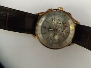 a vintage gents stainless steel cased sekonda chrono style watch - working