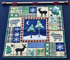 Alpine Lodge ~ Bear & Deer Silhouettes Tapestry Wall Hanging