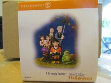 dept 56 halloween a grimsly family 799978 Mint in orig box! Retired 2010. Signed