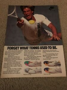 Vintage 1988 NIKE AIR PLAY Tennis Shoes Poster Print Ad 1980s RARE