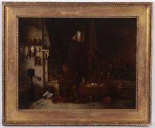 "Hendrik Herregouts ""Alchemist"", oil on copper, 2nd half of the 17th century"