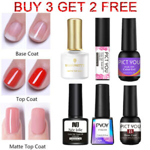 6/8/10ml Top Base Coat Gel Nail Polish No Wipe Matte Nail Art Soak Off Varnish