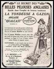 PUBLICITE  TONDEUSE A GAZON ANGLAISE - MICHON & Cie TONDEUSE A MAIN AD  1923 -2i