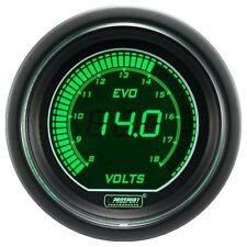 PROSPORT 52mm EVO Series Digital Green / White Led Volt Voltage Voltmeter Gauge