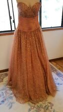 Amazing Jovani sequin strapless full length gown dress size 6