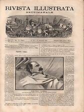 RIVISTA ILLUSTRATA SETTIMANALE 141 (1881) Pietro Cossa, Gambetta, Cap. Gallieni