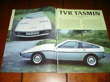 1981 TVR TASMIN SPORTS CAR ***ORIGINAL ARTICLE***