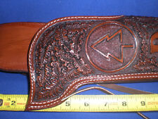 CUSTOM MADE RANCH HAND HOLSTER LEATHER  ROSSI hand tooled MARE LEG MARES LEG