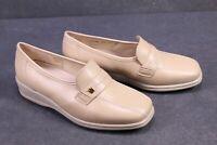 C1203 Goldkrone Damen Schuhe Slipper Leder beige Gr. 36,5 (4H) Wechselfußbett