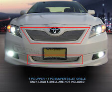 Fits 2007-2009 Toyota Camry Polished Billet Grille Front Grill Combo 2pc