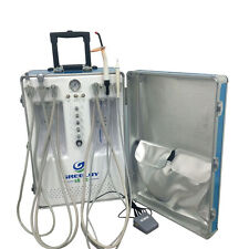 Greeloy 600W Dental Portable Unit with Air Compressor 2H + Curing Light + Scaler