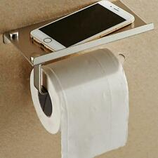 Toilet Roll Holder with Shelf Rack Paper Tissue Restroom Bathroom Accessories