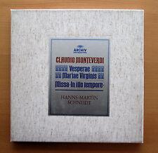 2723 043 Monteverdi Vesperae Mariae Virginis Hans-Martin Schneidt ARCHIV 3xLP NM