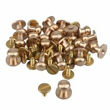 20pcs 10mm Head Button Brass Stud Screwback Screw Nail DIY For Leather Belt Bags