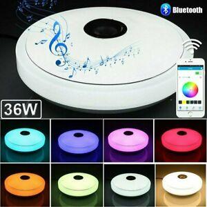 RGB Dimmbar LED Deckenleuchte Farbwechsel Deckenlampe mit Bluetooth Musik app