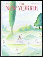 New Yorker magazine framing cover August 11 1986 Jean Jacques Sempe bicycles