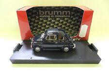 BRUMM 1:43 AUTO DIE CAST FIAT 500F CHIUSA 1965 BLU SCURO DARK BLUE  ART R455-09
