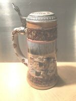 1990 Ducks Unlimited Waterfowl 4th Series Lidded Beer Stein Pintail