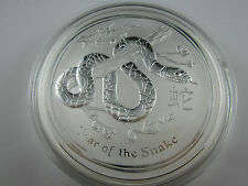 "2013 Silver LUNAR  ""YEAR OF THE SNAKE KILO specimen. Exceptional Perth Mint"