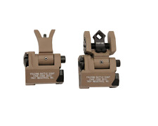 Troy Micro BattleSight Front & Back Folding Sights Dioptic Tritium, Tan