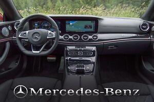 Mercedes-Benz + Stern Aufkleber für Armaturenbrett SPIEGEL CHROMEFFEKT FOLIE