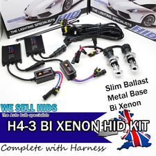 BI-XENON HID CONVERSION KIT HI/LOW H4 6000K lo h4-3 HIGH Telescopic Flash