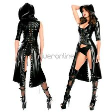 Women Faux Leather Wetlook Catsuit Jumpsuit Clubwear Fancy Dress Outfit Costume