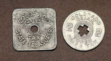 Vintage Colorado Tax Tokens – Sales Tax Tokens 2 different