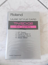 CARTE DE SONS POUR SYNTHÉTISEUR ROLAND MUSIC STYLE CARD TN-SC1-02 50'S AND 60'S