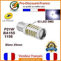 1 x ampoule 63 LED BA15S 1156 P21W BLANC XENON  VOITURE Feux Recul / Jour SMD