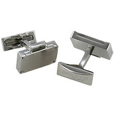 S.T. Dupont Valisette Briefcase Brushed Stainless Steel Cufflinks 005762, NIB